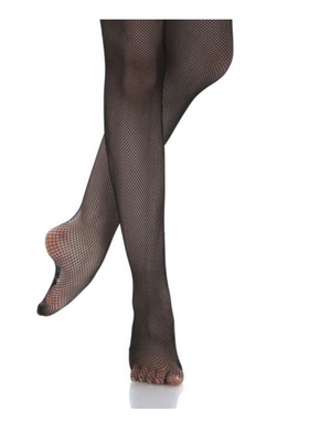 Black - Energetiks Classic Fishnets Footed