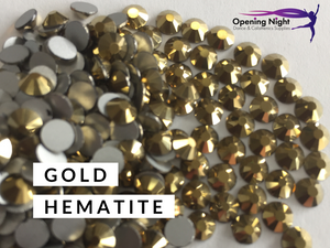 Gold Hematite - AAA Non Hotfix Diamante Crystals