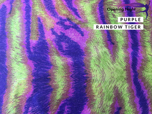 NEW Purple Rainbow Tiger - Digital Print Fog Finish Spandex