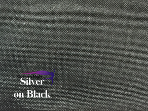 Silver on Black - Stretch Foile Mesh