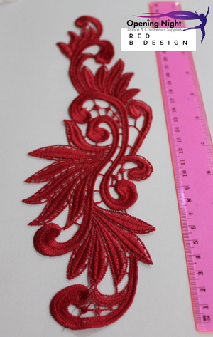 Embroidered Applique Trim, Arabesque 28cm