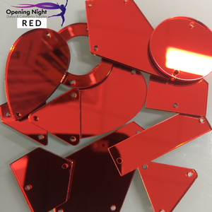 Acrylic Mirror Pieces - Red