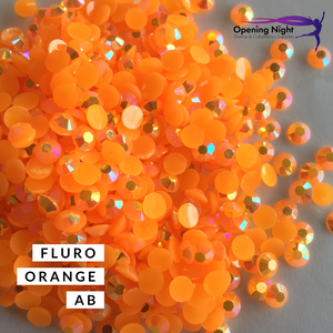 Fluro Orange AB - Non Hotfix Acrylic Crystals