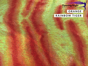 NEW Orange Rainbow Tiger - Digital Print Fog Finish Spandex
