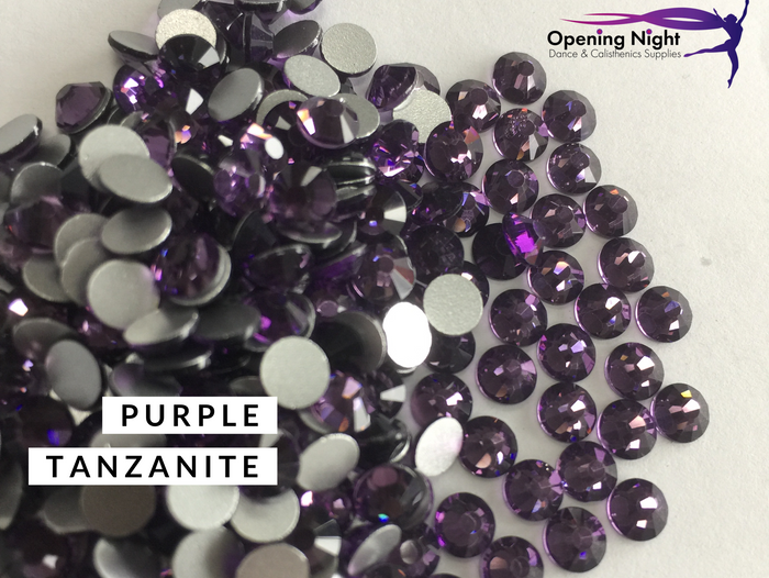 Purple Tanzanite - AAA Non Hotfix Diamante Crystals