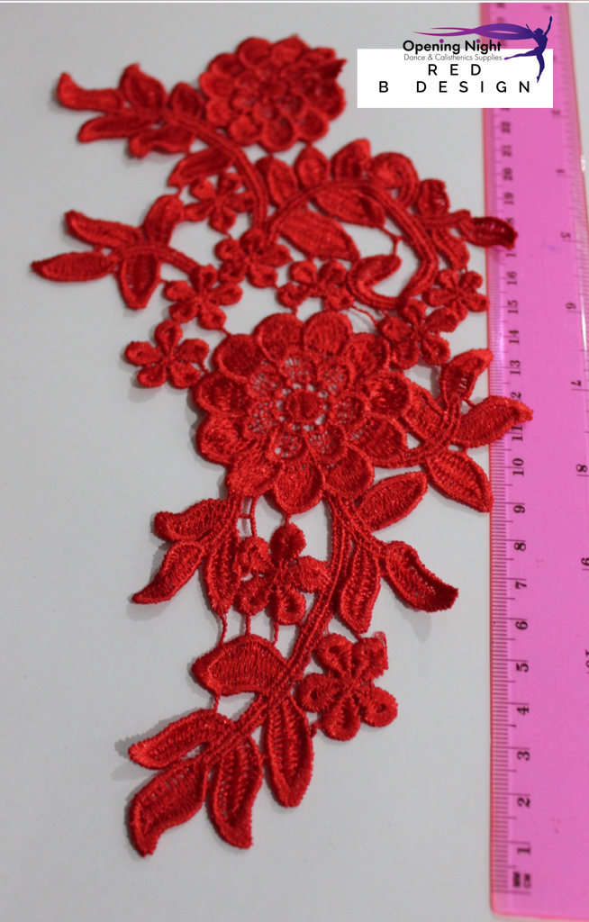 Embroidered Applique Trim, Ballet 25.5cm