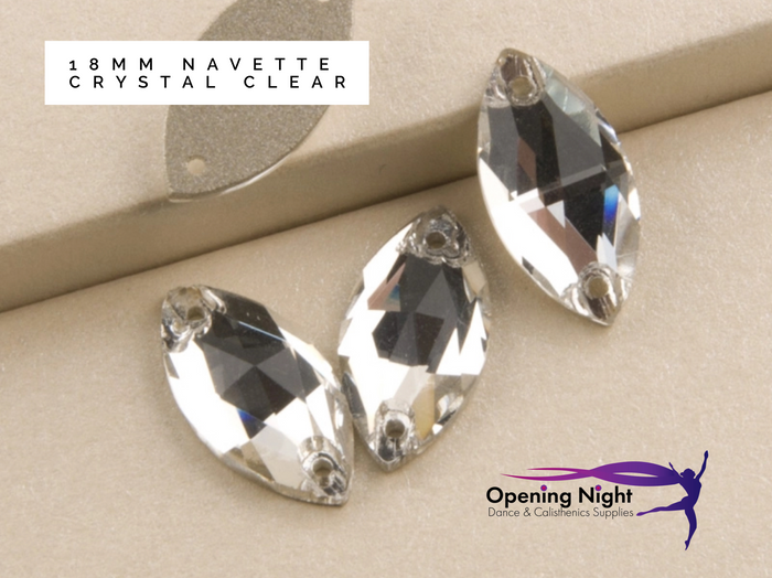 Navette 18mm, Crystal Clear