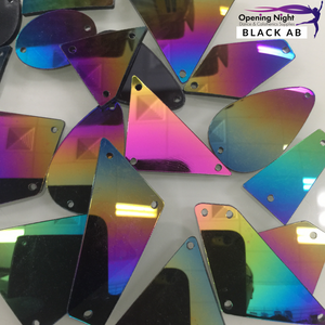 Acrylic Mirror Pieces - Black AB