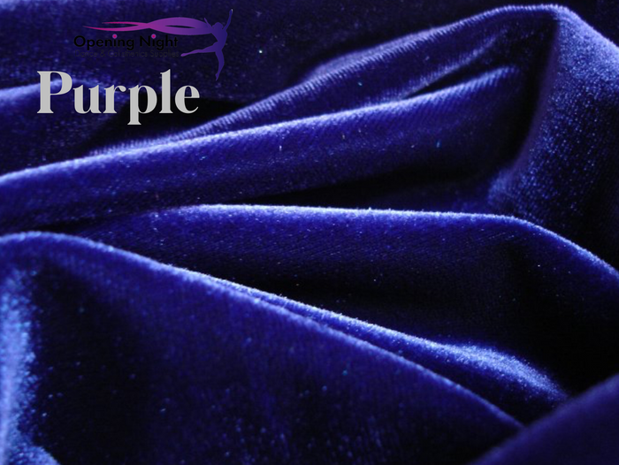 Purple - Stretch Velvet