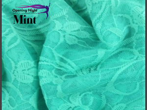 Mint - Floral Belle Stretch Lace