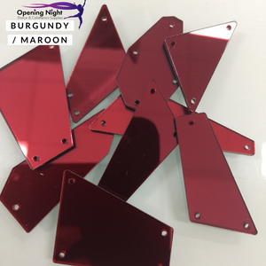 Acrylic Mirror Pieces - Burgundy / Maroon
