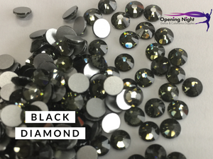 Black Diamond - AAA Non Hotfix Diamante Crystals