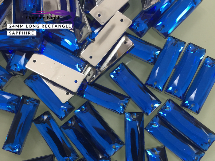 24mm, Long Rectangle - Sapphire