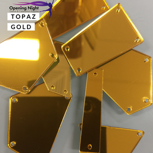 Acrylic Mirror Pieces - Topaz Gold