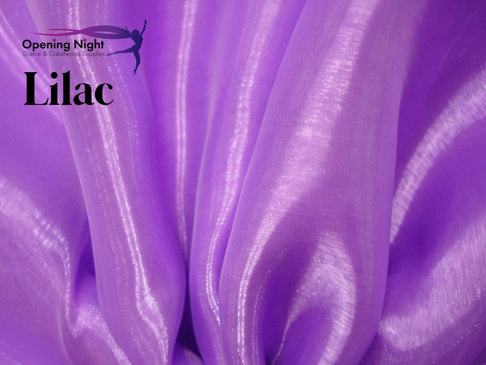 Lilac - Glass Crystal Organza