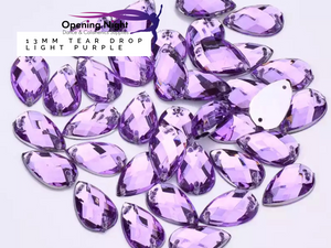 13mm, Tear Drop - Light Purple