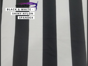 Black & White Stripe - Shiny Nylon Spandex
