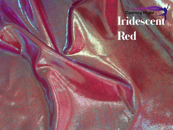 Irridiscent Red - Fog Finish Spandex