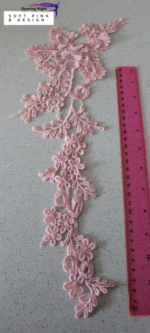 Embroidered Applique Trim, Pointe 42cm