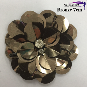 Bronze - Sequin Flower 7cm