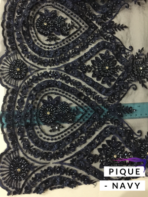 Beaded Lace Border - Pique (3 colours)