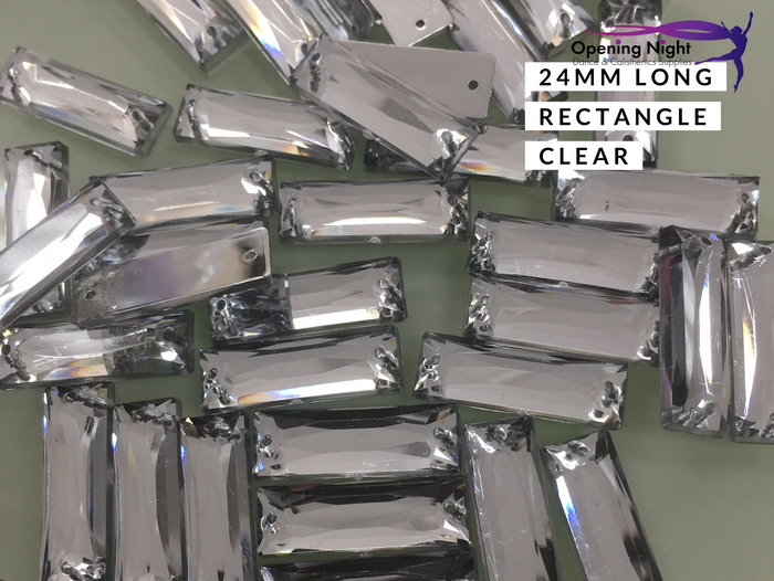 24mm, Long Rectangle - Clear
