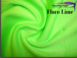Fluro Lime - Shiny Nylon Spandex