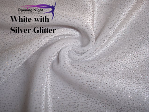Silver White - Stretch Velvet Cosmic Glitter