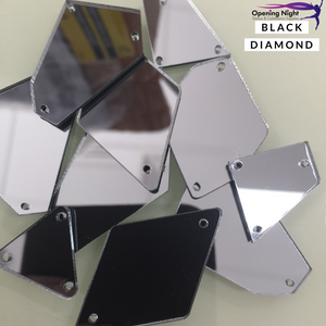 Acrylic Mirror Pieces - Black Diamond