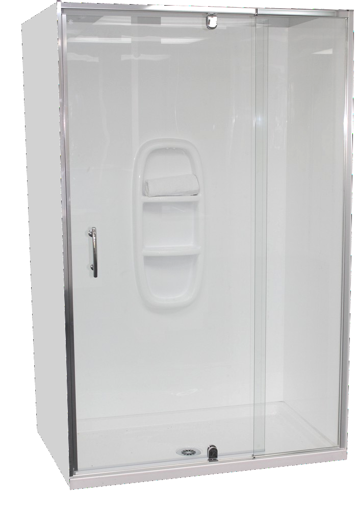 Alcove Shower Cubicle 1200x760mm | Tray & Door | New Zealand