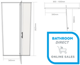 Shower Door Alcove Adjusta