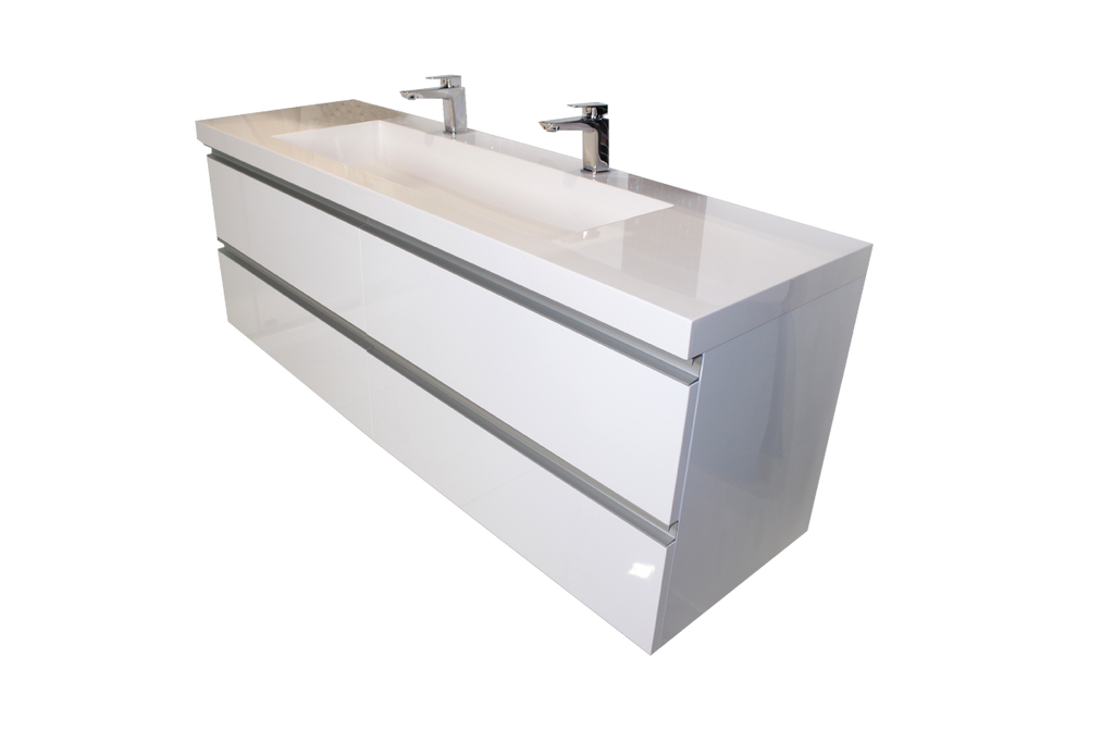 Wall hung vanity linear 1500mm new zealand for Bathroom wall cabinets new zealand