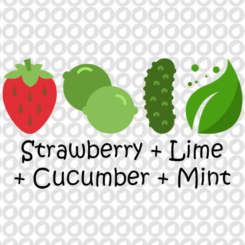 Strawberry, Lime, Cucumber, Mint Infusion Recipe