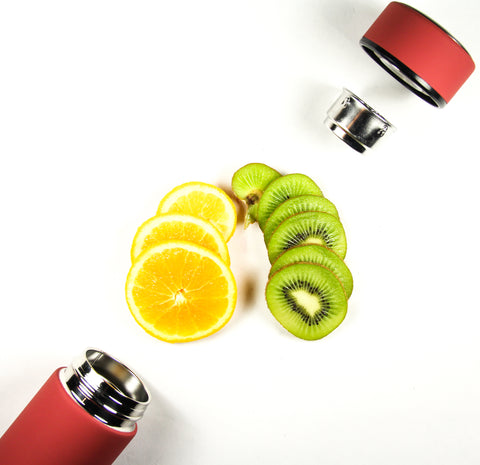 WATRBOTL, Fruit infuser water bottle, orange kiwi fruit water, fruit infused water bottle