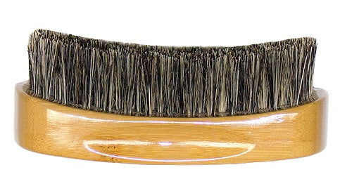 Bass Silver Natural Bristle Beard Brush - Firm - Greenhouse Marketing (My Natural Choice)