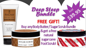 Deep Steep Body Butter / Body Scrub Combo - Greenhouse Marketing (My Natural Choice)