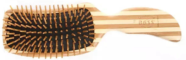 BASS 19 – 'S' SHAPE HAIR BRUSH. BAMBOO BRISTLE - Greenhouse Marketing (My Natural Choice)