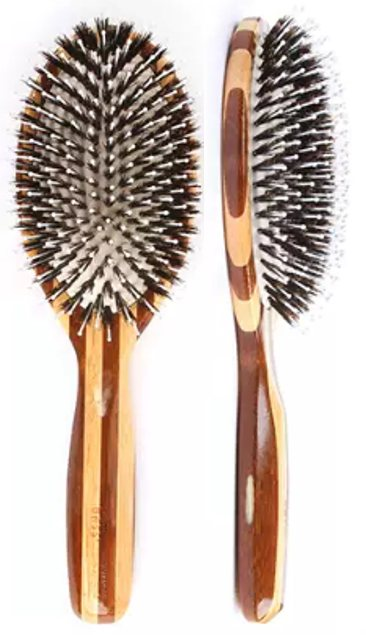 Bass 849-I Large Oval Boar and Nylon Bristle Bamboo Brush - Greenhouse Marketing (My Natural Choice)