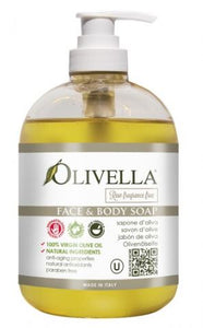 Olivella Liquid Soap Raw Fragrance Free - 500ml - Greenhouse Marketing (My Natural Choice)