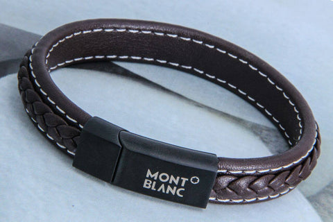 MONT BLANC MENS LEATHER BRACELET Brown