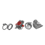 Ring set  5 peaces Midi finger Rings for Women - (2)