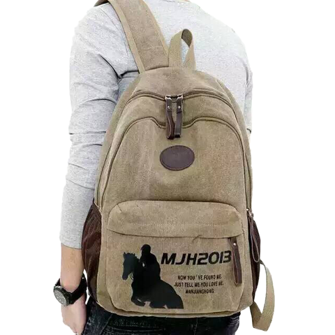 Canvas Backpack For Unisex