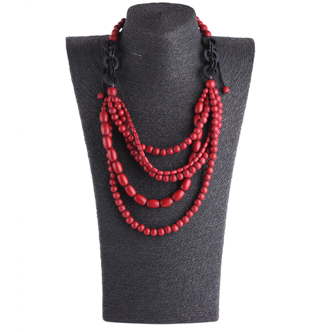 Handmade Red necklace for women