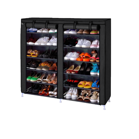 King Size Double 6-tier Shoe Rack