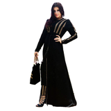 Seham Black Casual Abaya For Women - 3XL