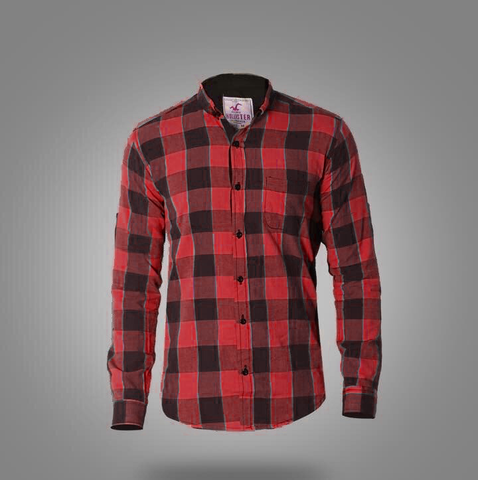 Hollister Long Sleeve Shirts for men Red* Brown