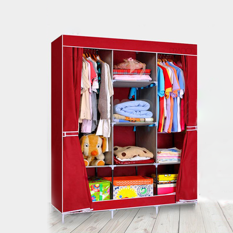 Portable Fabric Closet Wardrob/ دولاب 3 درفه