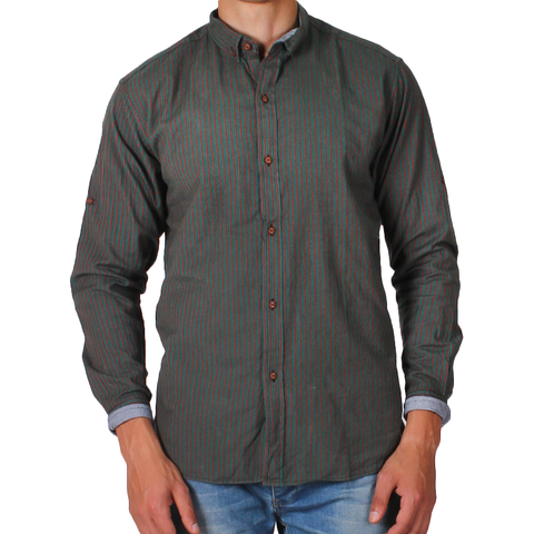 Green*Red Cotton Shirt Neck For Men