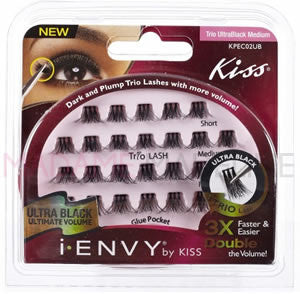 i-ENVY Individual Lashes TRIO UltraBlack Medium (KPEC02UB)