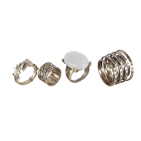 Ring set 5 peaces Midi finger Rings for Women - (11)
